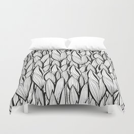 Abstract Leaves Duvet Cover