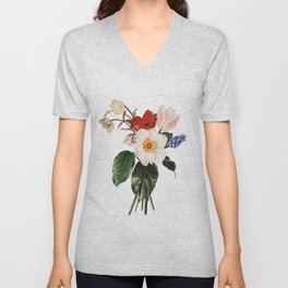 Spring Flowers Bouquet Unisex V-Neck