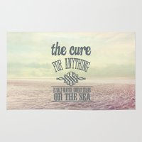 the cure Area & Throw Rugs featuring The Cure for Anything  by secretgardenphotography [Nicola]