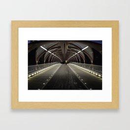 Calgary Peace Bridge Morning Commute Framed Art Print