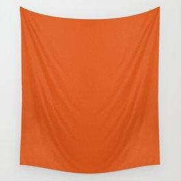 Dark Orange Saturated Pixel Dust Wall Tapestry