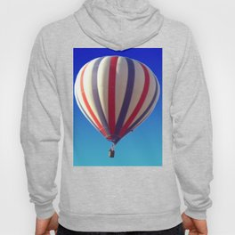 Flying in Blue, White and Red Hot air Balloon Hoody