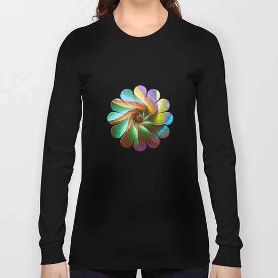 Colorful Spiral Flower Long Sleeve T-shirt