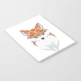 Tribal Fox - Wild Animal Art - Exotic Animals Notebook