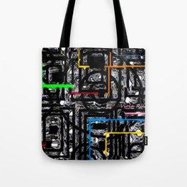 Empires Blue Print Tote Bag