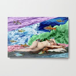 Dissection of the wave Metal Print