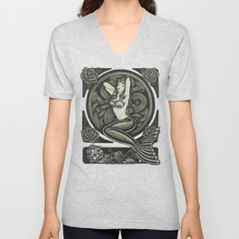 Vintage Classic Mermaid Pinup Unisex V-Neck