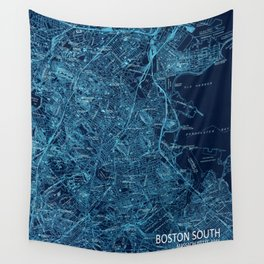Boston South old map 1944 Wall Tapestry