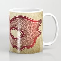 mask Mugs featuring Mask by Bluishmuse