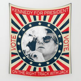 Cigar Smoker Cigar Lover Vote JFK Gifts Black And White Photo Wall Tapestry