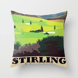 Stirling For Golf Throw Pillow