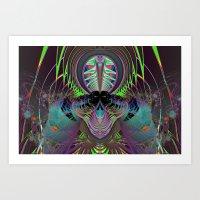 Psychedelic Skull Art Print