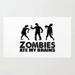 zombies ate my brains Rug