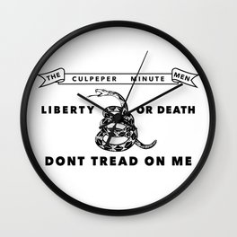 Culpeper Minutemen flag - Authentic version Wall Clock