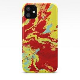 Crimson Wave iPhone Case