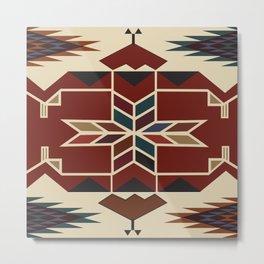 American Native Pattern No. 24 Metal Print