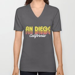 Retro San Diego California Unisex V-Neck