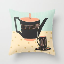 Soothing Tea #2 Throw Pillow