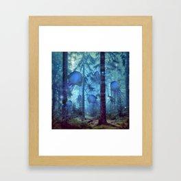 Magical Oceanic Forest Framed Art Print