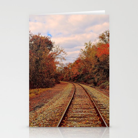Fall on the Tracks Stationery Cards
