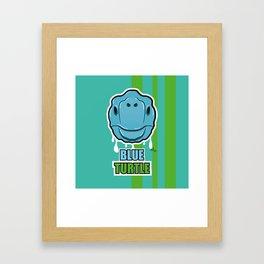 Blue turtle Framed Art Print