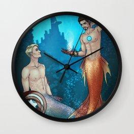 UNDERWATER SUPERHEROES Wall Clock