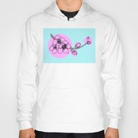 cherry blossoms Hoodies featuring Cherry blossoms by Moonworkshop