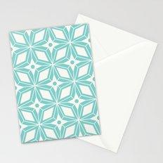Starburst - Aqua Stationery Cards