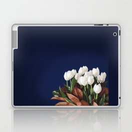 White Tulips Laptop & iPad Skin