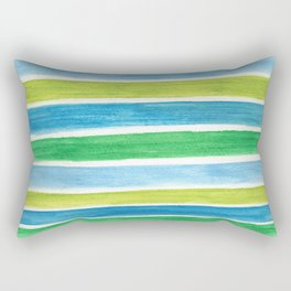 Sea Stripes Rectangular Pillow