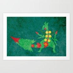 Mega Sceptile Art Print
