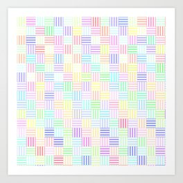 GEOMETRIC STRIPE PATTERN Art Print