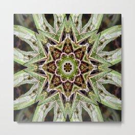 Canna-Mandala Metal Print