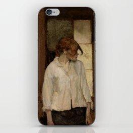 """Henri de Toulouse-Lautrec """"At Montrouge ( Rosa la Rouge)"""" iPhone Skin"""