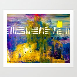 Skyline Thunder On Acid Art Print