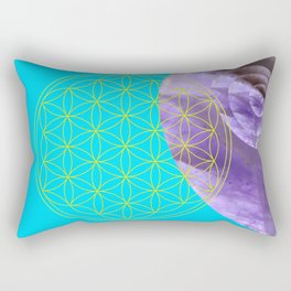 Mystical Flower of Life Amethyst #society6 Rectangular Pillow