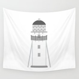 Lighthouse in gray an white Wall Tapestry