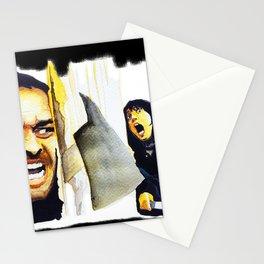 Jack Nicholson the Shining Halloween Vintage Stationery Cards