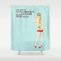 hipster Shower Curtains featuring Hipster by inusualstuff