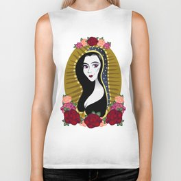 Our Lady Morticia of Addams Biker Tank