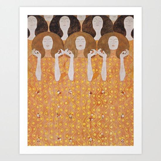 Beethoven Frieze by Gustav Klimt by wildstrawberries