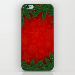 Christmas background iPhone Skin