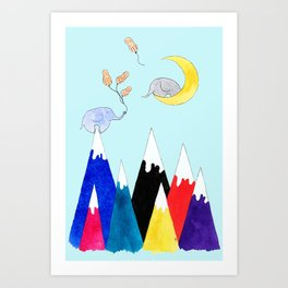 Baby, I'd Climb Any Mountain For You Art Print