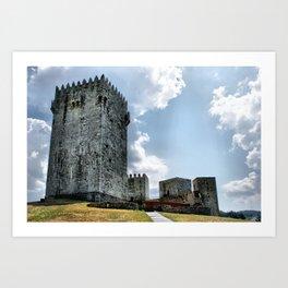 Montalegre Castle in Portugal Art Print