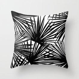 Tropical Fan Palm Leaves #2 #tropical #decor #art #society6 Throw Pillow