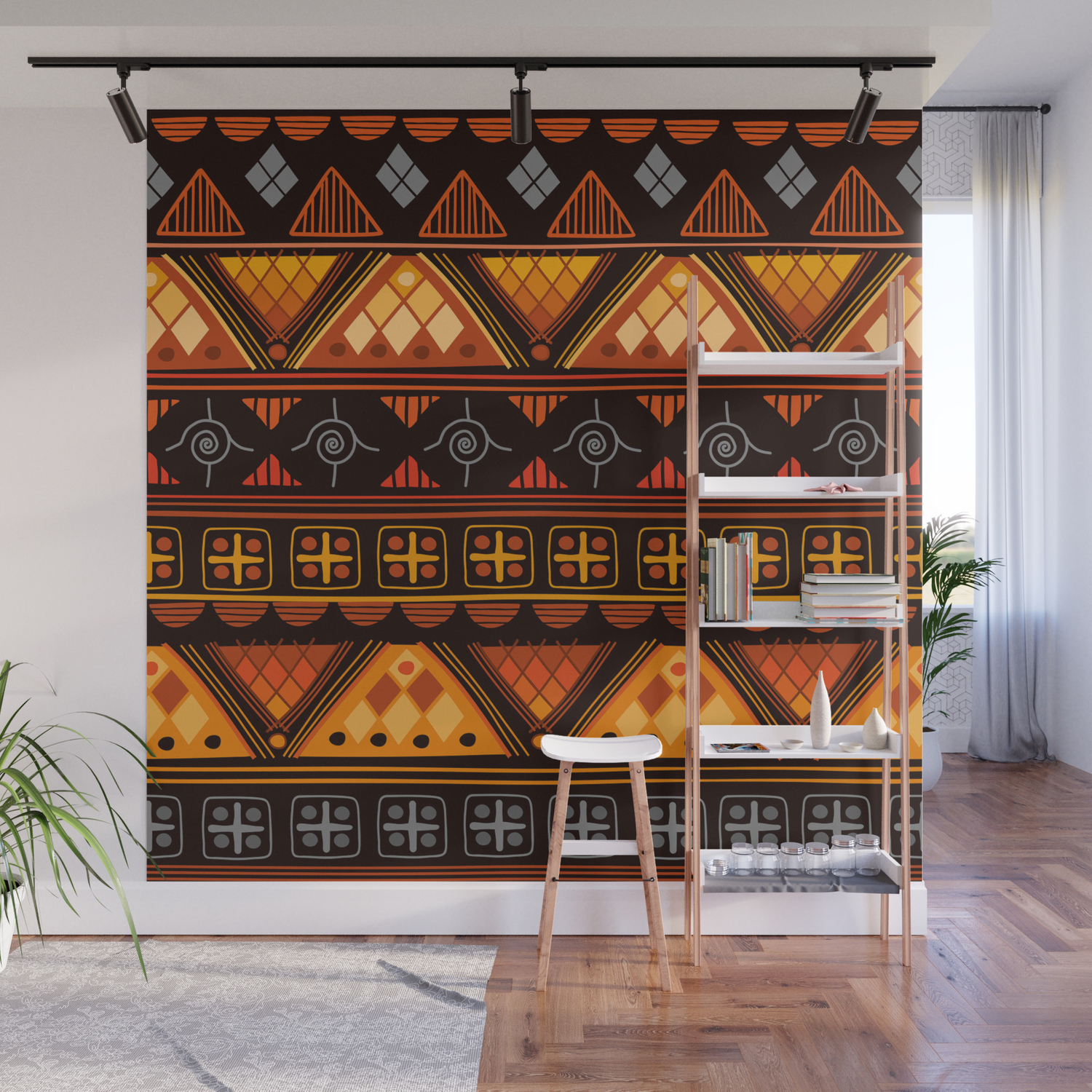 Modern Native American Pattern Wall Mural By Boho Rhapsody Society6