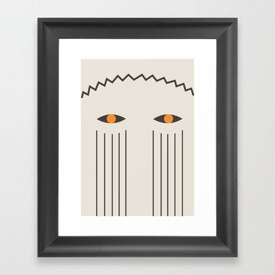 2 mask Framed Art Print