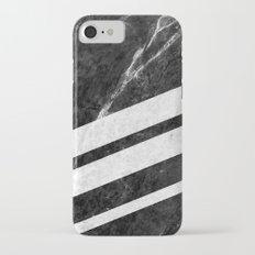 Black Striped Marble Slim Case iPhone 7