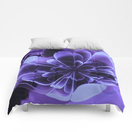 Abstract Blue Flower Comforters