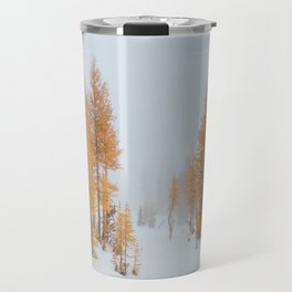 Vibrant Larch Trees Travel Mug